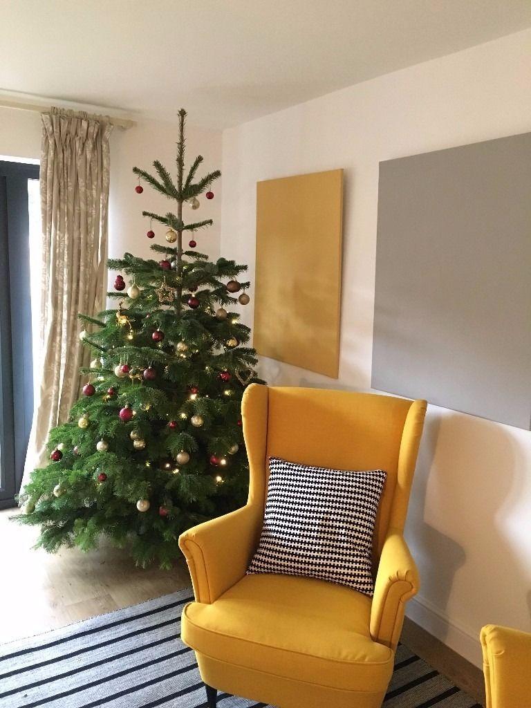 Yellow Armchair Wing Back Chair Ikea Strandmon Favorite Time