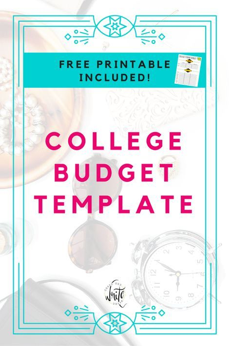 College Budget Template Free Printable for Students Budgeting - expenses template free