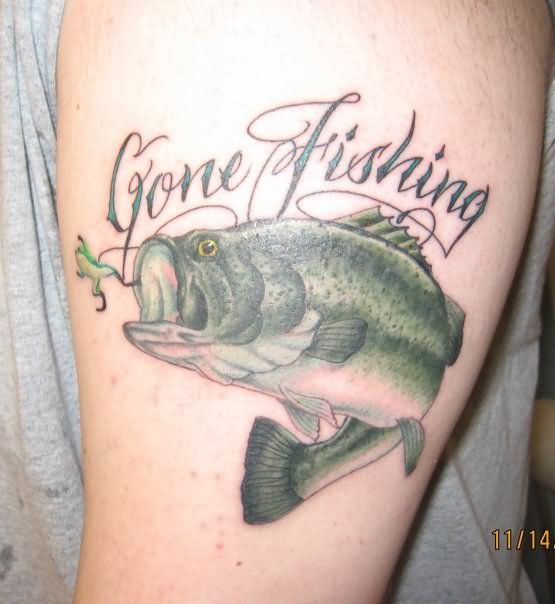 Bass Fishing Tattoo Designs Tattoos Fish Page 20 Tagged As Fish Tattoos Pictures And Images Page Bass Fishing Tattoo Animal Tattoos Hunting Tattoos