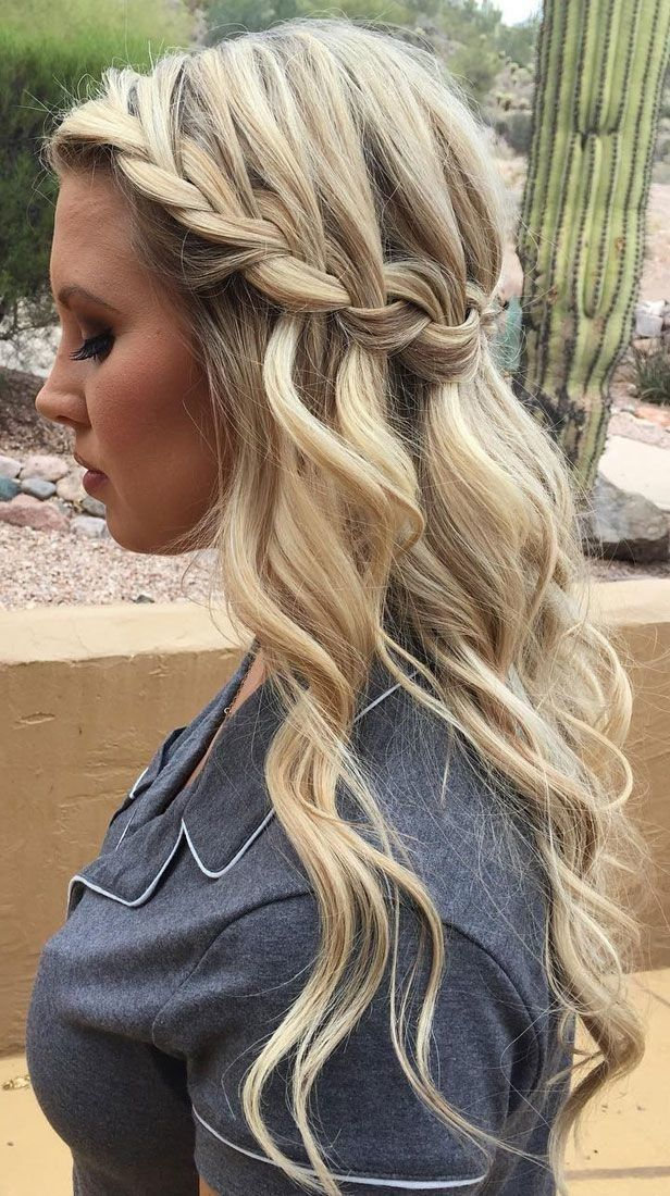 Braided Prom Hairstyles for Long Hair The dress is ...