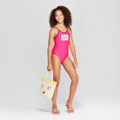 ffb80c45c67c1 Girls  JoJo Siwa One Piece Swimsuit - Pink XS