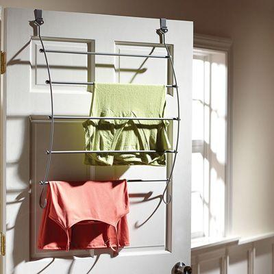 Over Door Drying Rack Orga Laundry Room Clothes Drying Racks