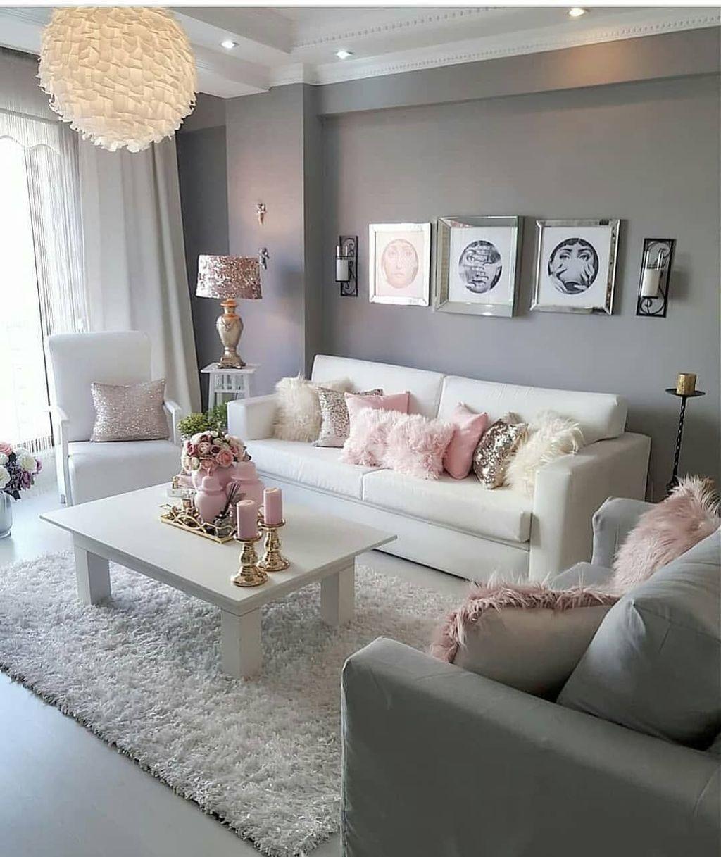 Adorable 53 Cozy And Romantic Living Room Ideas On A Budget Https Freshoom Com 9138 53 Cozy Romantic Glam Living Room Living Room Designs Living Room Decor