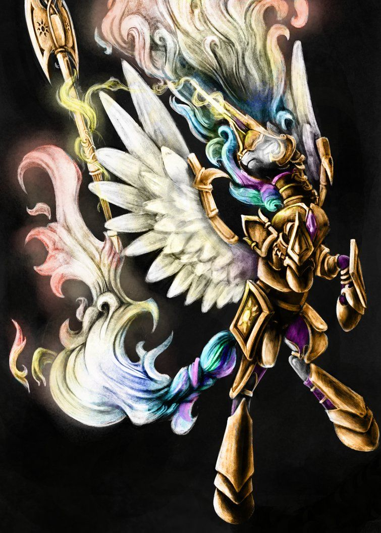 For my First Contact War universe. Some might've hoped for this, after seeing Celestia making a FCW appearance again. Well... here we go This armour is from the same piece I had Celestia's armour i...
