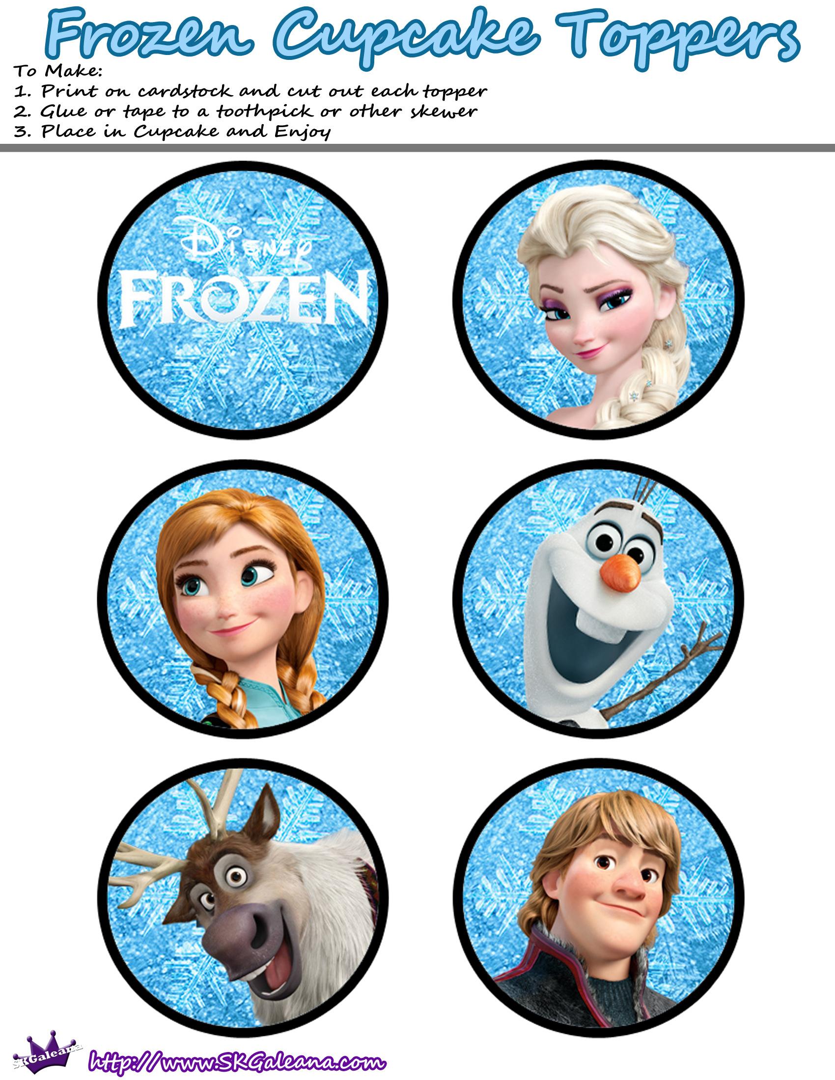 Http Skgaleana Com Free Printables For The Disney Movie Frozen Frozen Birthday Party Frozen Cupcakes Frozen Cake Topper