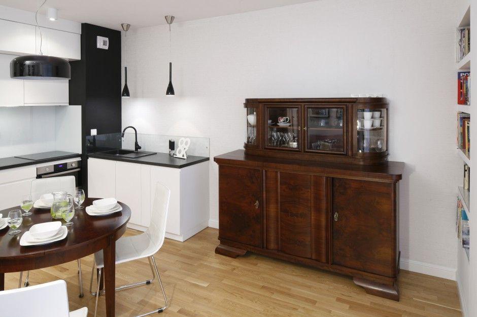 Mala Kuchnia W Czerni I Bieli Zobacz Gotowy Projekt Home Furniture Modern Rustic