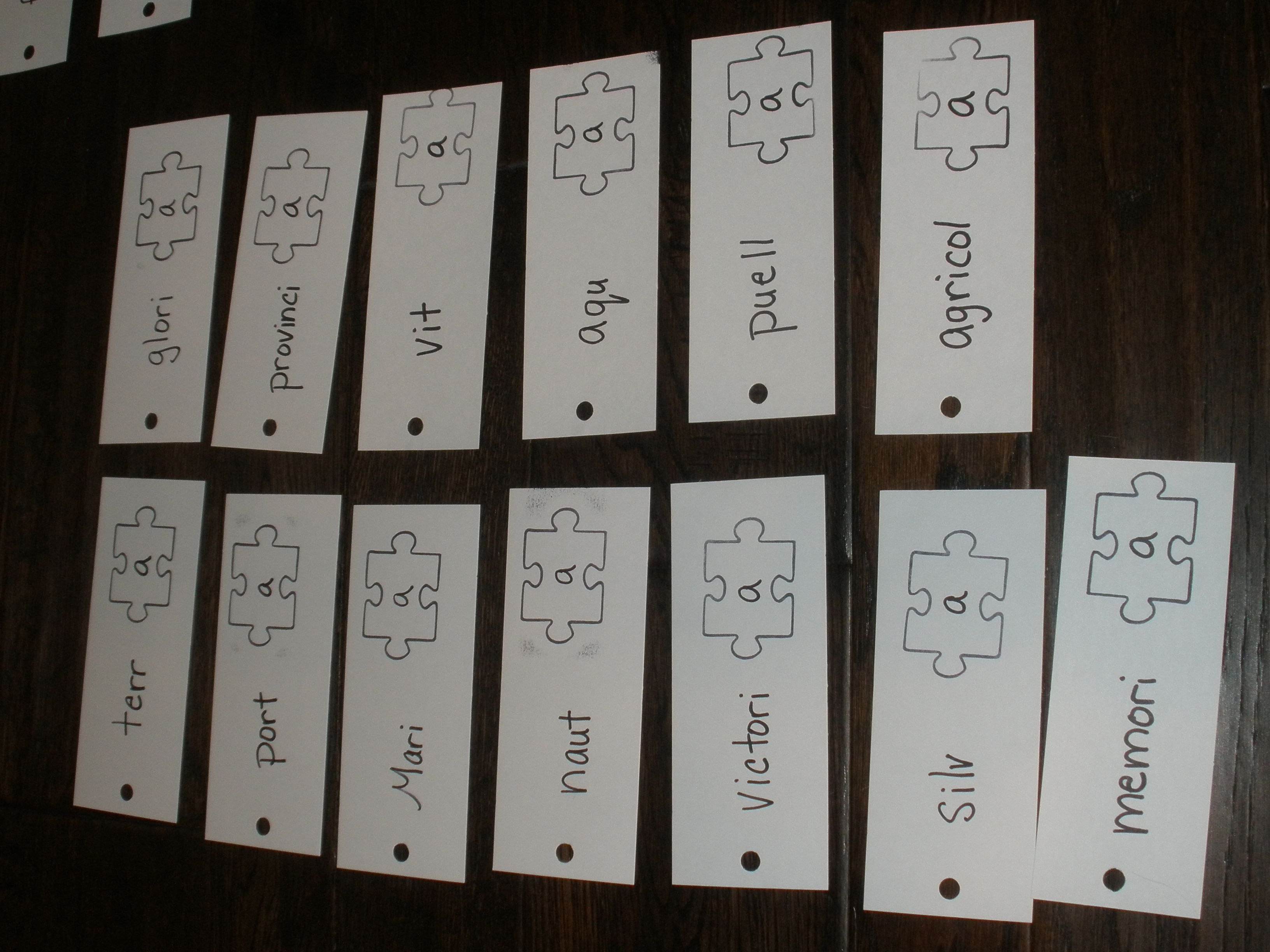 Latin Vocabulary Cards To Go With Latin Puzzle Nouns