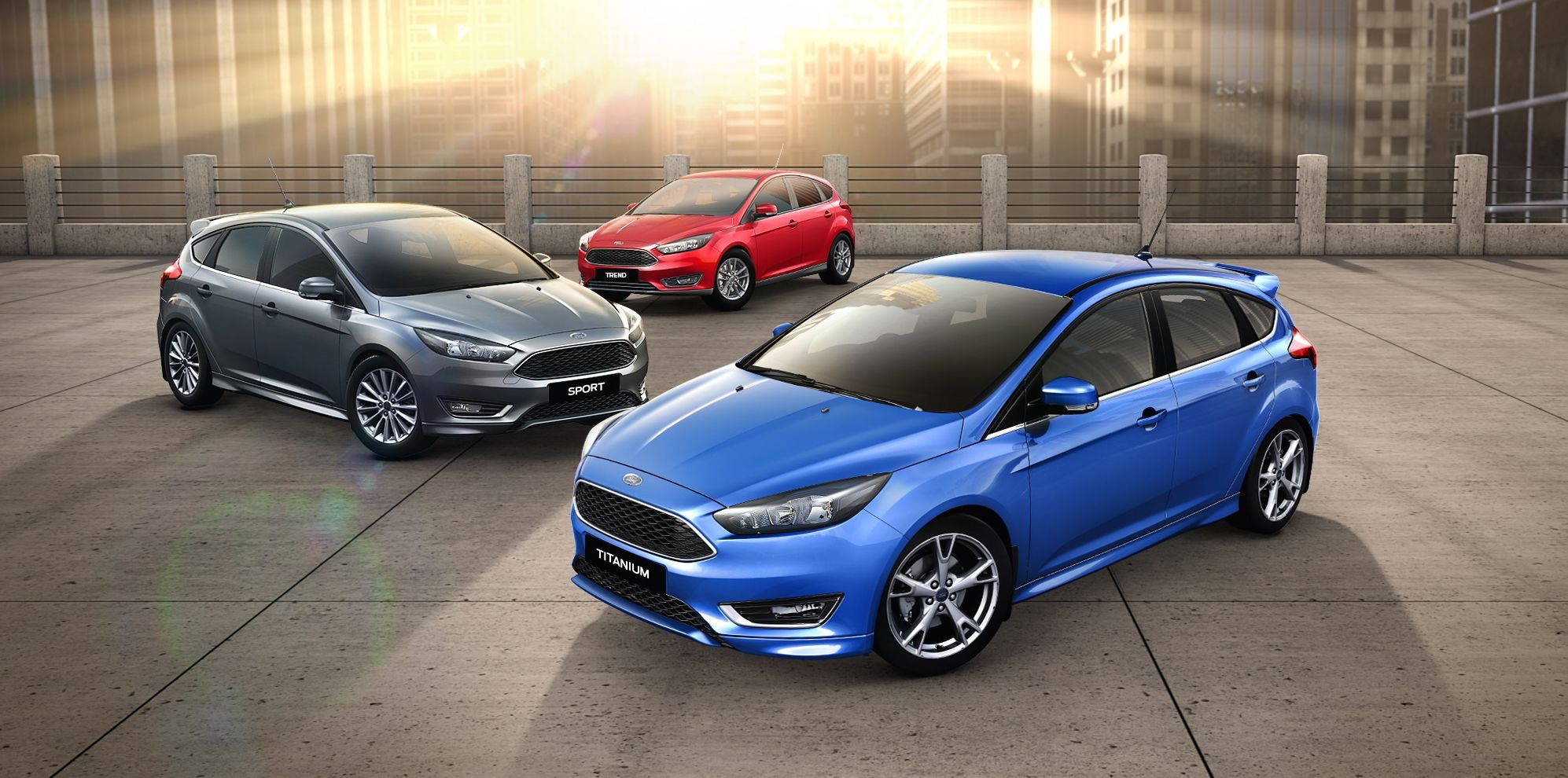 New 2016 Blue ford Focus