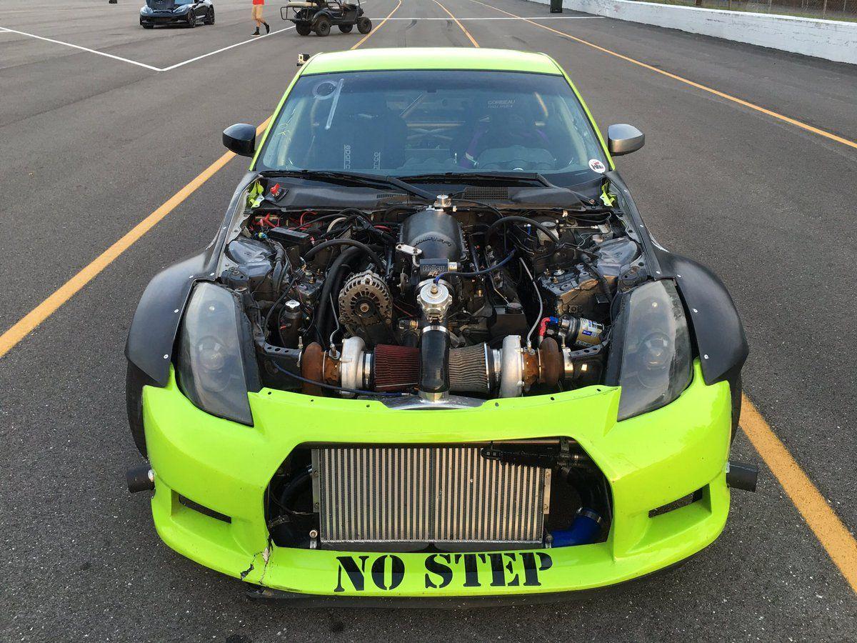 Twin Turbo LS swap on a 350Z looking Mean!!!  d8ecd18a40