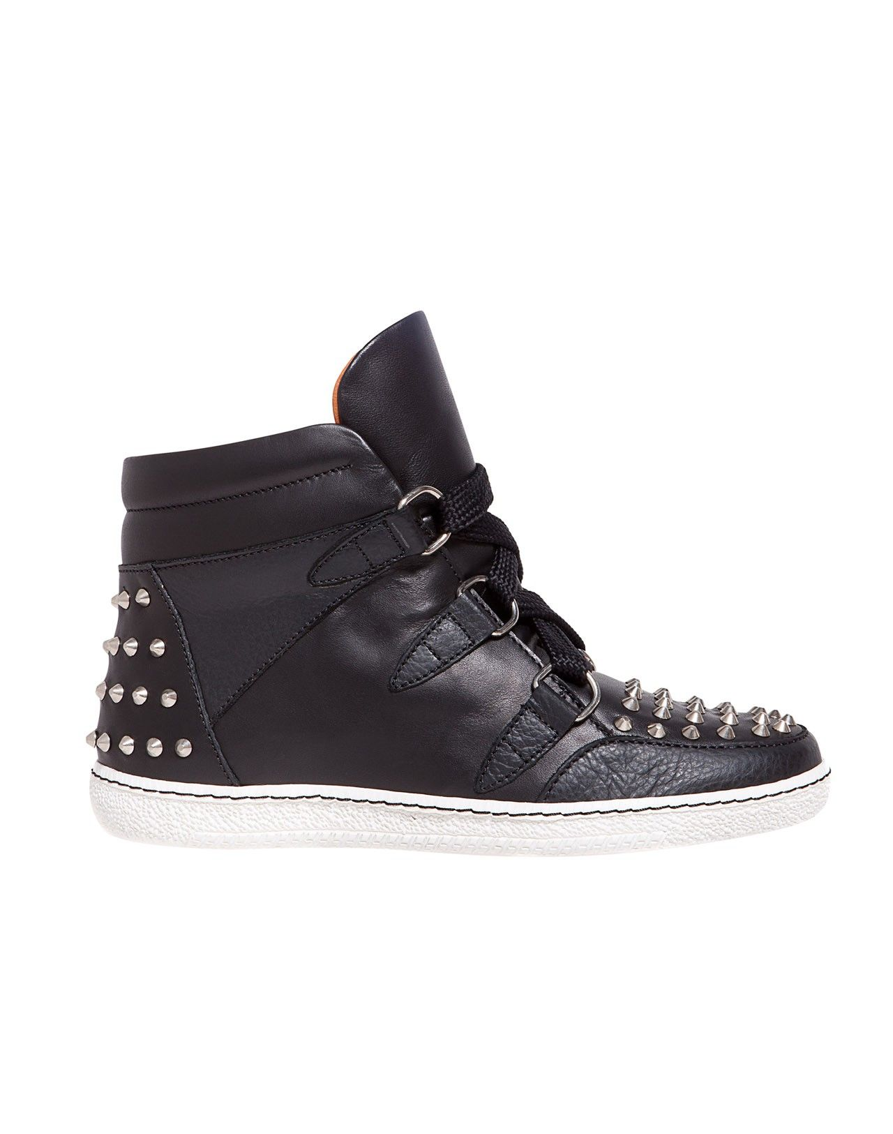 81c239dbc74d sandro - studded black leather sneakers. obsessed! Baskets Cloutées
