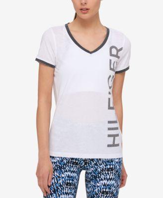 TOMMY HILFIGER Tommy Hilfiger Logo Ringer T-Shirt, Only At Macy'S. #tommyhilfiger #cloth # tops