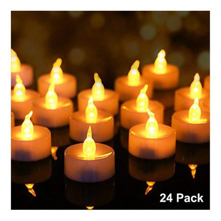 Led Battery Votive Candles Realistic Flickering Battery Operated