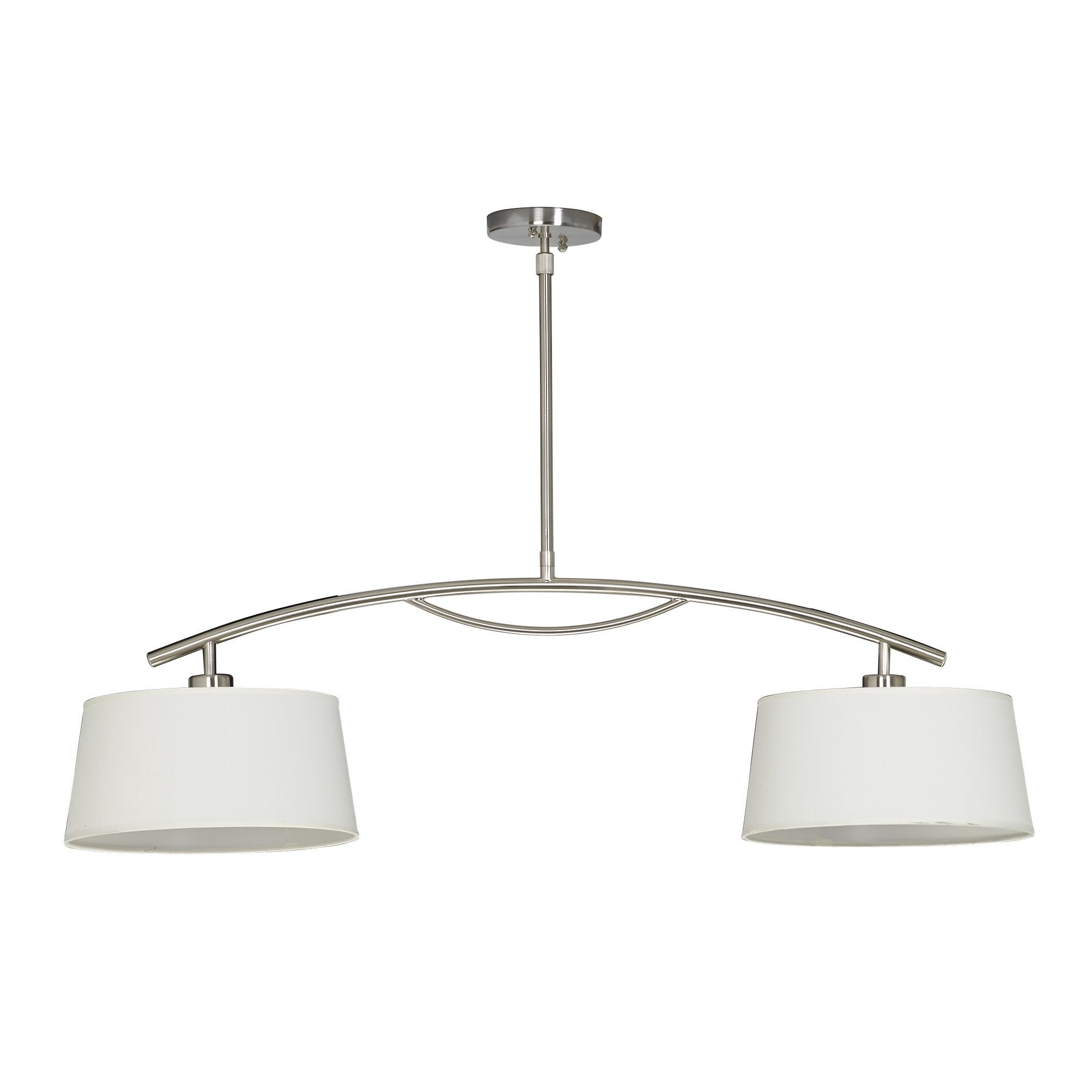 Suspension 2 lumi res l102cm new select les for Luminaire suspension salon