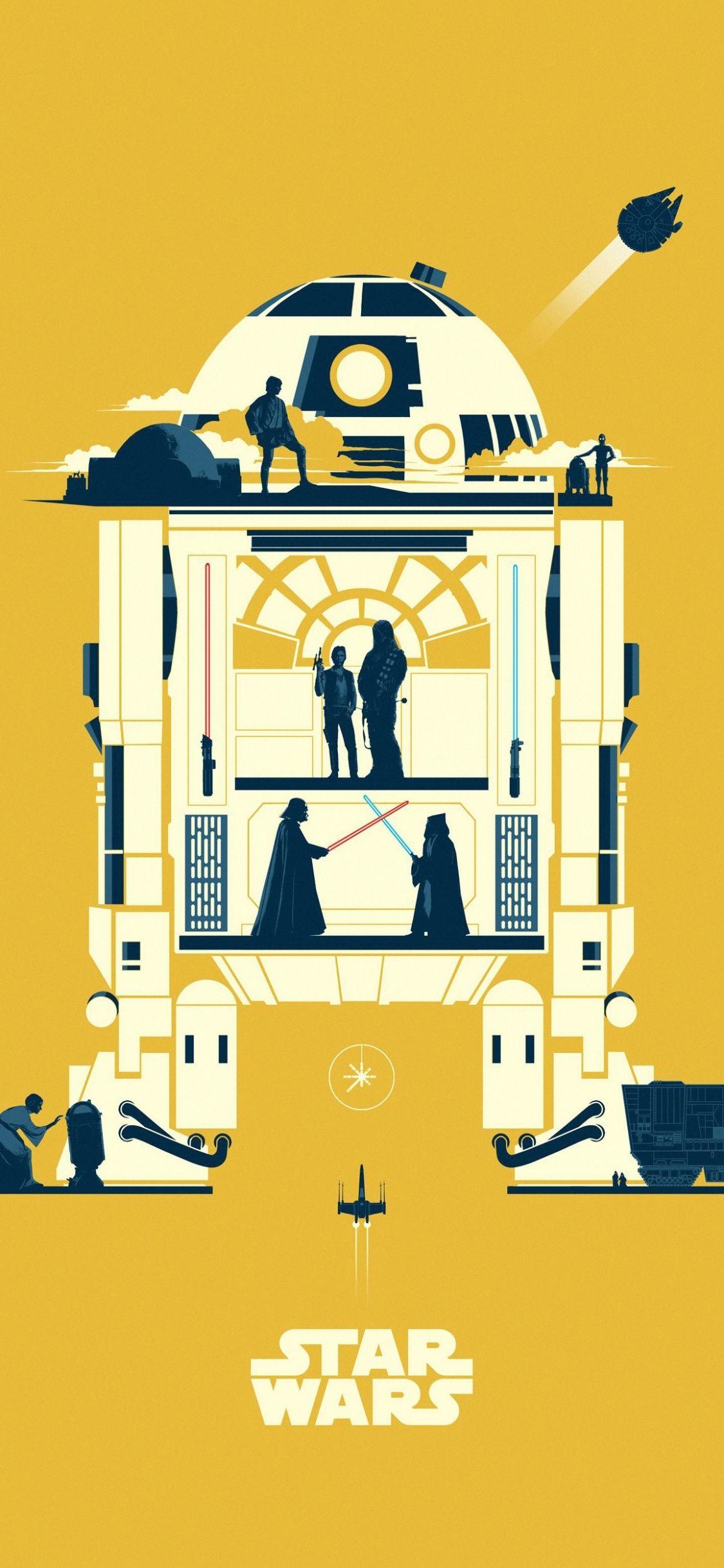 Minimalist Star Wars Mobile Wallpaper In 2020 Star Wars