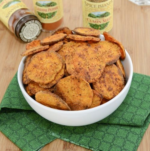 Sweet Potato Chips! Definitely going to have to try these!