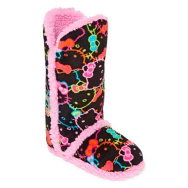 3d1b8051f Hello Kitty® Tall Boot Slippers found at @JCPenney | Nightie's,PJ's ...