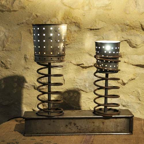 LAMPE CREATION DECO INDUSTRIELLE LOFT ATELIER  LE GRENIER DU MARQUIS  http://www.alittlemarket.com/luminaires/fr_lampe_creation_deco_industrielle_loft_atelier_-10225059.html