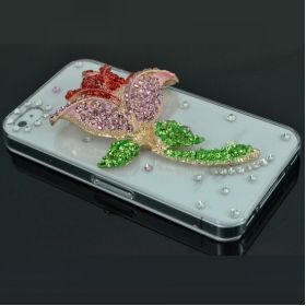 This is lovely. Not sure if i could really walk around with this. Red Lily Diamond Clear Back Case Cover for iPhone 4/4S.
