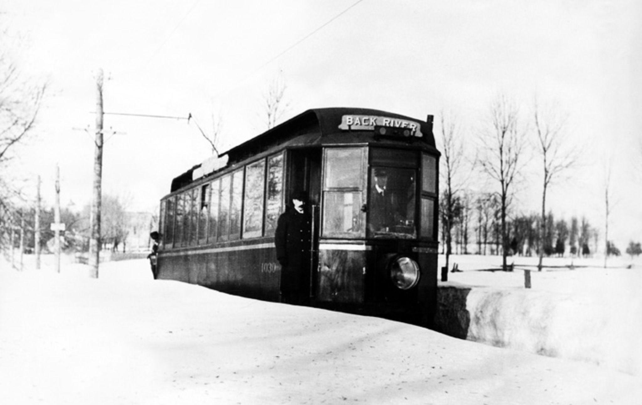 Tramway Back River Ahuntsic Quebec Montreal History