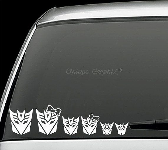 Transformers Family Decepticons Vinyl Decals By Uniquegraphix