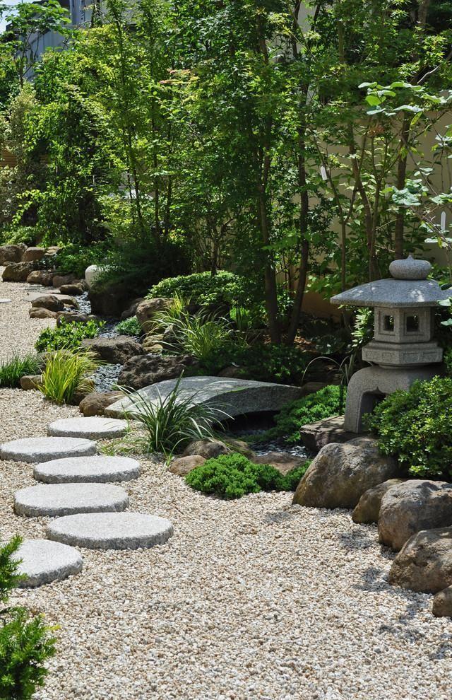 Japanischer Garten 60 Fotos Schaffen Einen Unglaublichen Raum Modernersteing Diy Garten Dekoration In 2021 Japanese Rock Garden Small Japanese Garden Japanese Garden Backyard