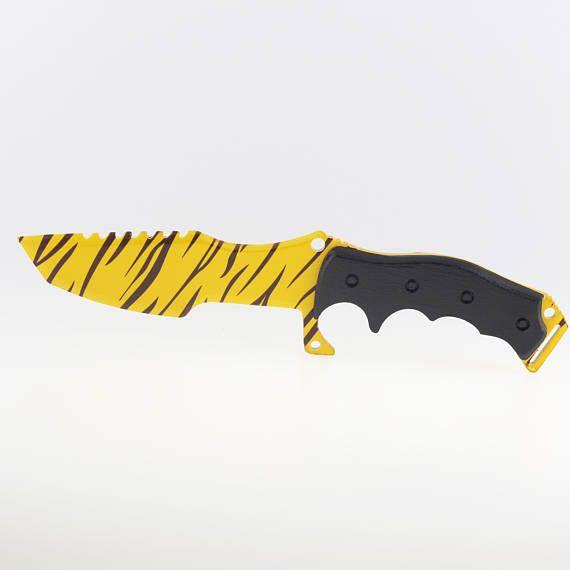 CS Tiger Tooth huntsman knife Counter strike gift for gamer
