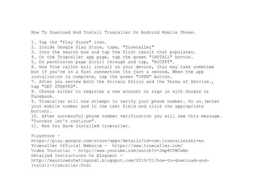 Mobile App Truecaller Mobile app, App, Caller id