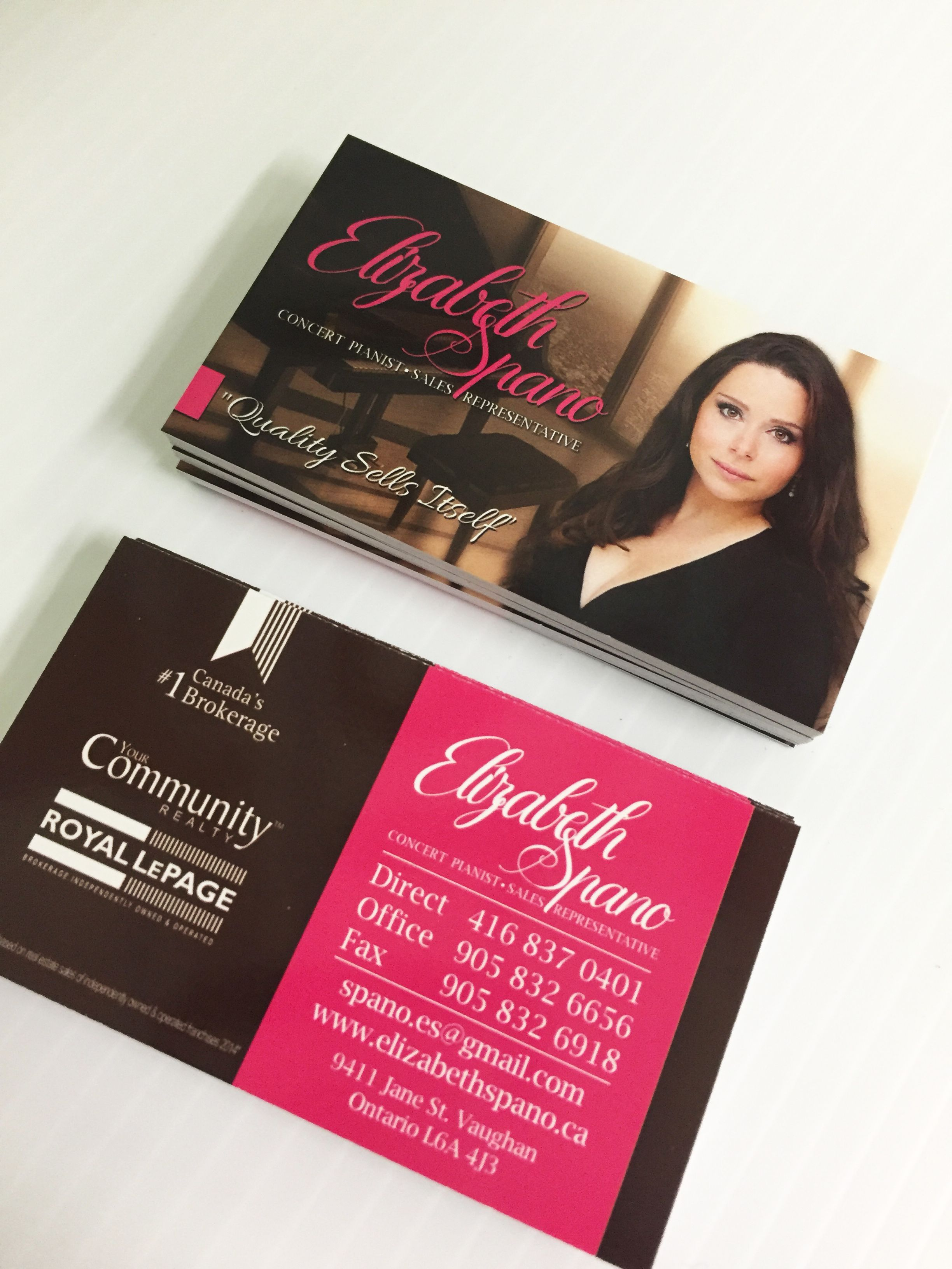 Royal lepage customized business cards for a realtor and pianist royal lepage customized business cards for a realtor and pianist sweetprint alramifo Gallery