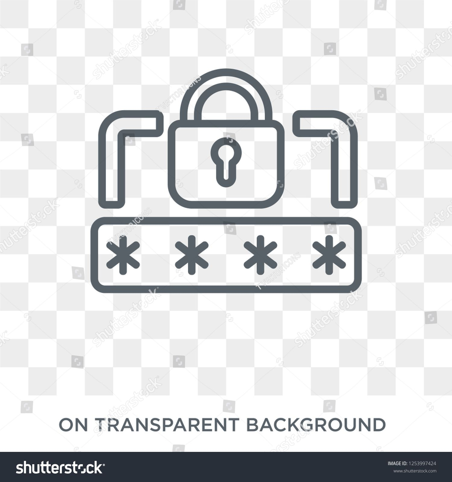 Pin code icon. Trendy flat vector Pin code icon on