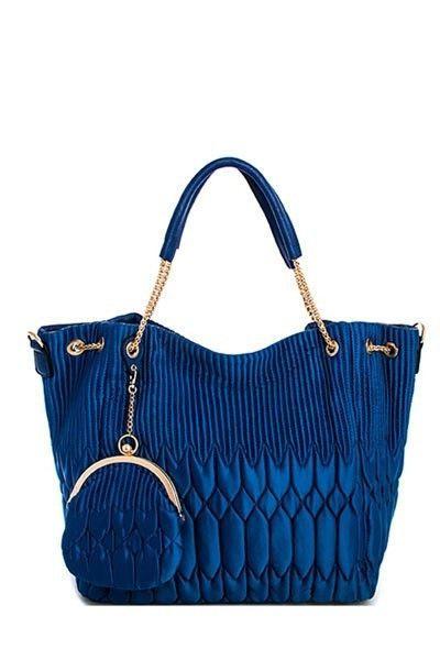 Madalyn Fabric Knit Handbag with Change Purse