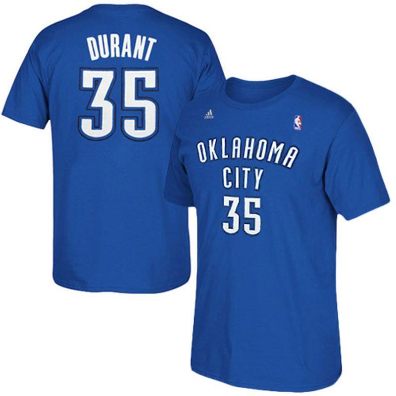 469482eef60 Kevin Durant Oklahoma City Thunder adidas Net Number T-Shirt – Light Blue