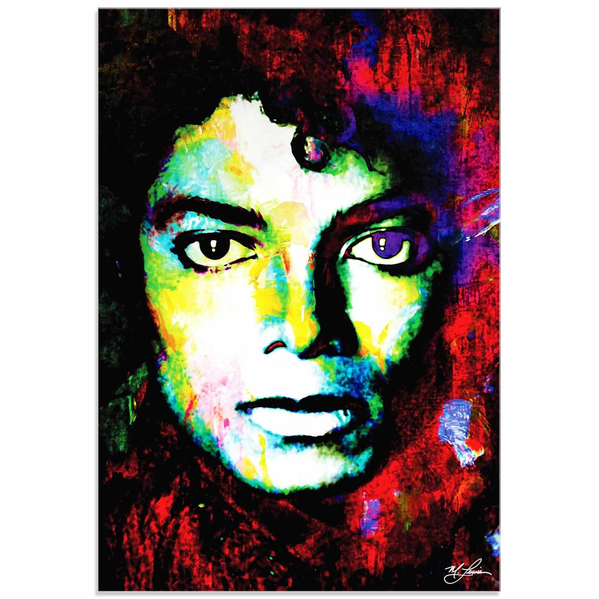 Mark Lewis 'Michael Jackson Study' Limited Edition Pop Art