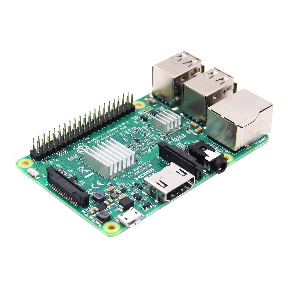3 In 1 Raspberry Pi 3 Model B + Official Case + Heatsinks Set