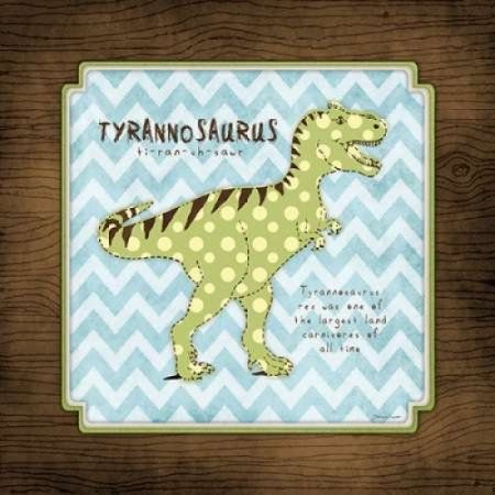 Tyrannosaurus Canvas Art - Stephanie Marrott (24 x 24)