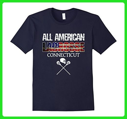 Mens Lacrosse American Flag Team Connecticut with Gear T-Shirt 3XL Navy - Sports shirts (*Amazon Partner-Link)