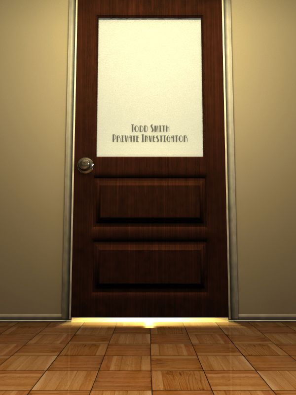 Detective office google s gning miniatur detectiv for Office doors with windows