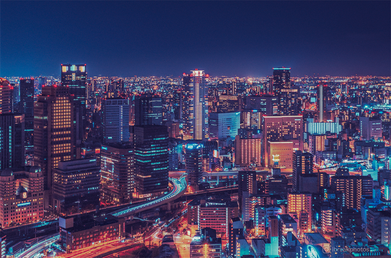 Osaka At Night Cityscape Cityporn Photography Travel Travelphotography Osaka Japan Travel City Wallpaper