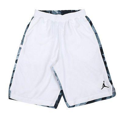 d629f6b5476c Nike Jordan 7 VII Printed White Dri-Fit Basketball Shorts 642594-100 Mens  Size L