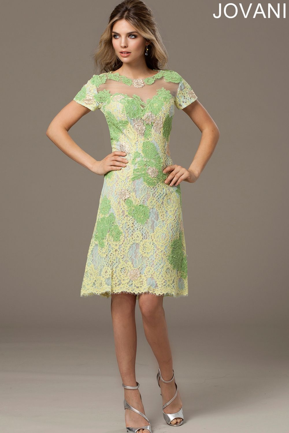 Multicolor floral lace adds a spring like air to the breezy cocktail