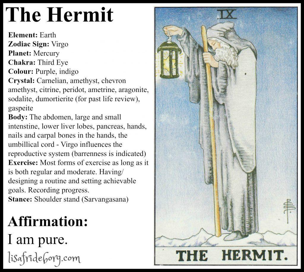 Holistic tarot tarot the hermit tarot tarot cards