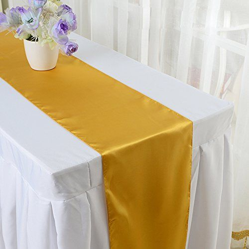 10pcs 12 X 108 Inch Satin Table Runner Wedding Banquet De Colorful Table Banquet Decorations Wedding Party Table Decorations