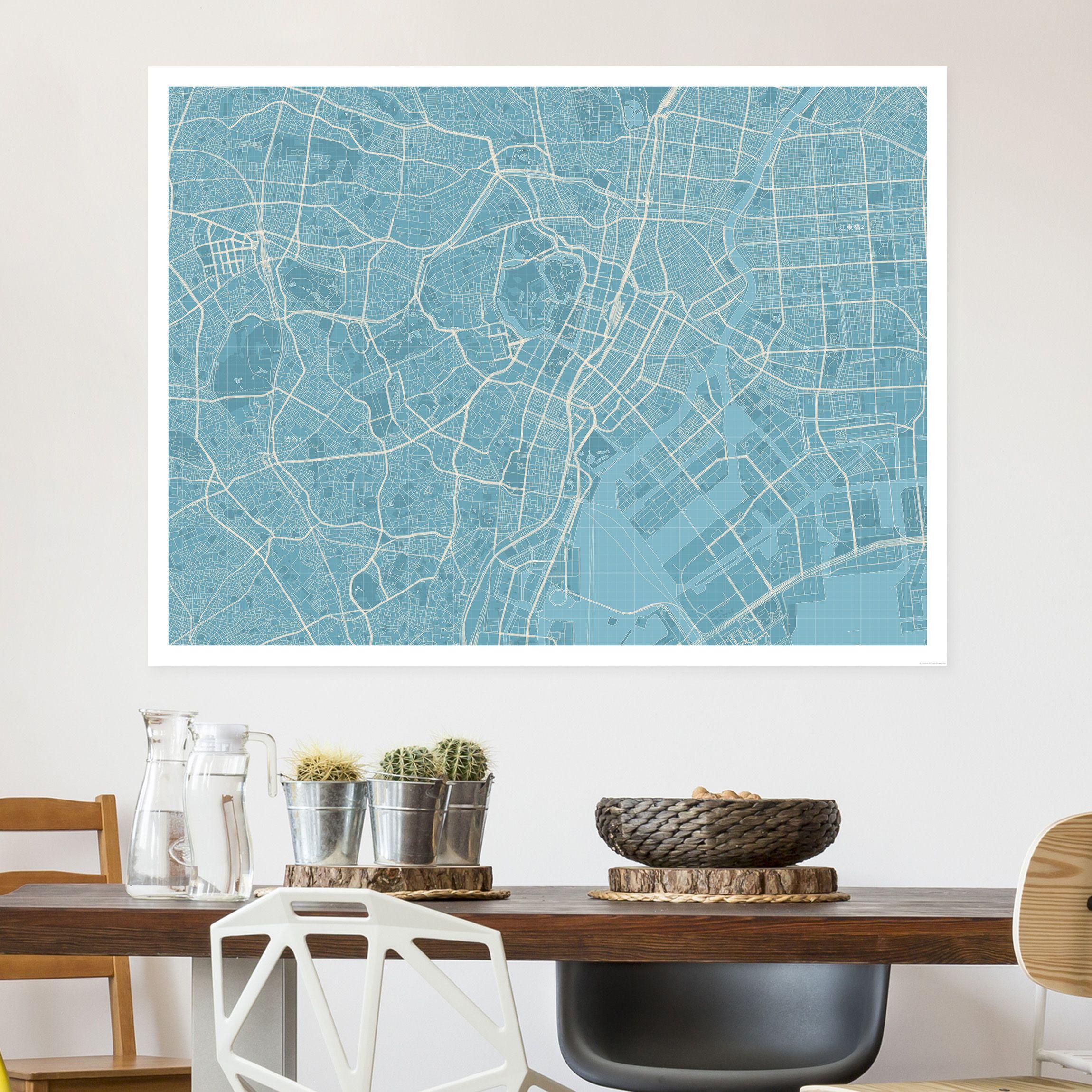 Map Maker Wandbilder Glasbilder Leinwandbilder Stadtplan
