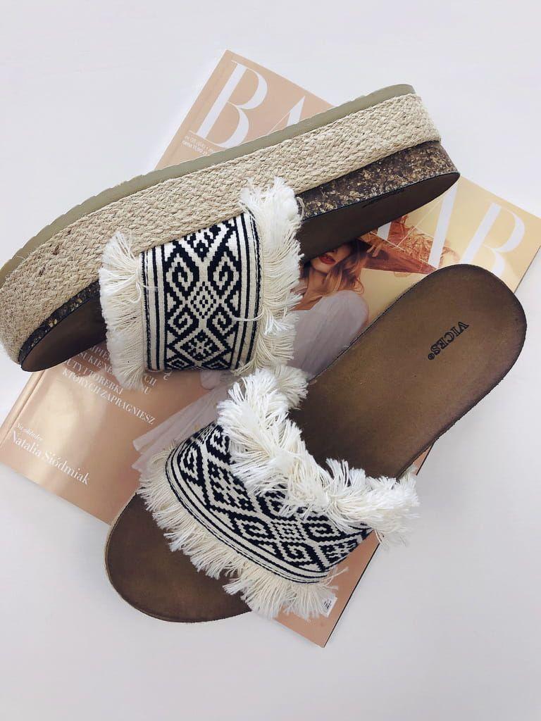 Klapki Boho Na Jutowej Podeszwie Cute Shoes Slip On Sandal Shoes