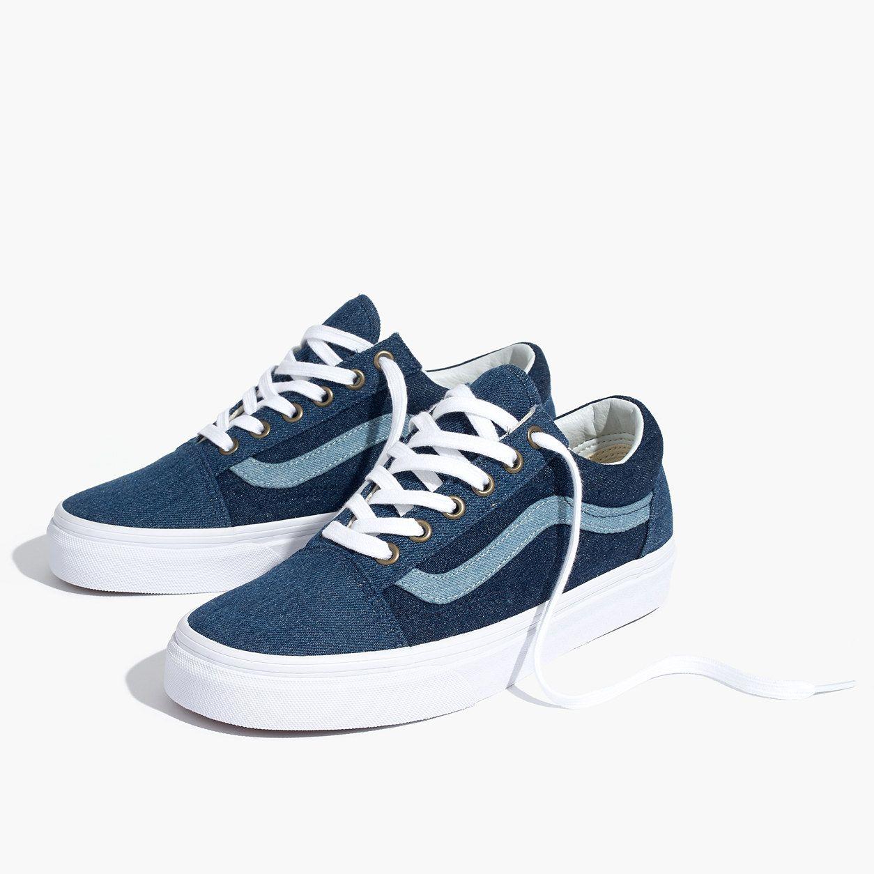 Madewell X Vans Unisex Old Skool Sneakers In Denim  68e492ba8