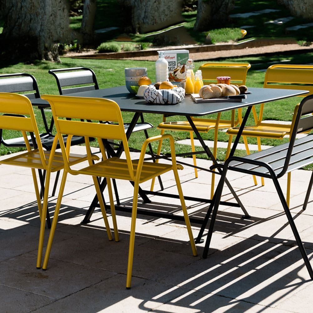 Fermob Cargo 128 X 128 Square Table Lime Fermob Outdoor Dining Set Ikea Patio