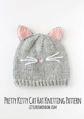 Cat Hat KNITTING PATTERN   Baby Cat Hat Pattern   Cat Hat for Baby ... dd1aba20b310
