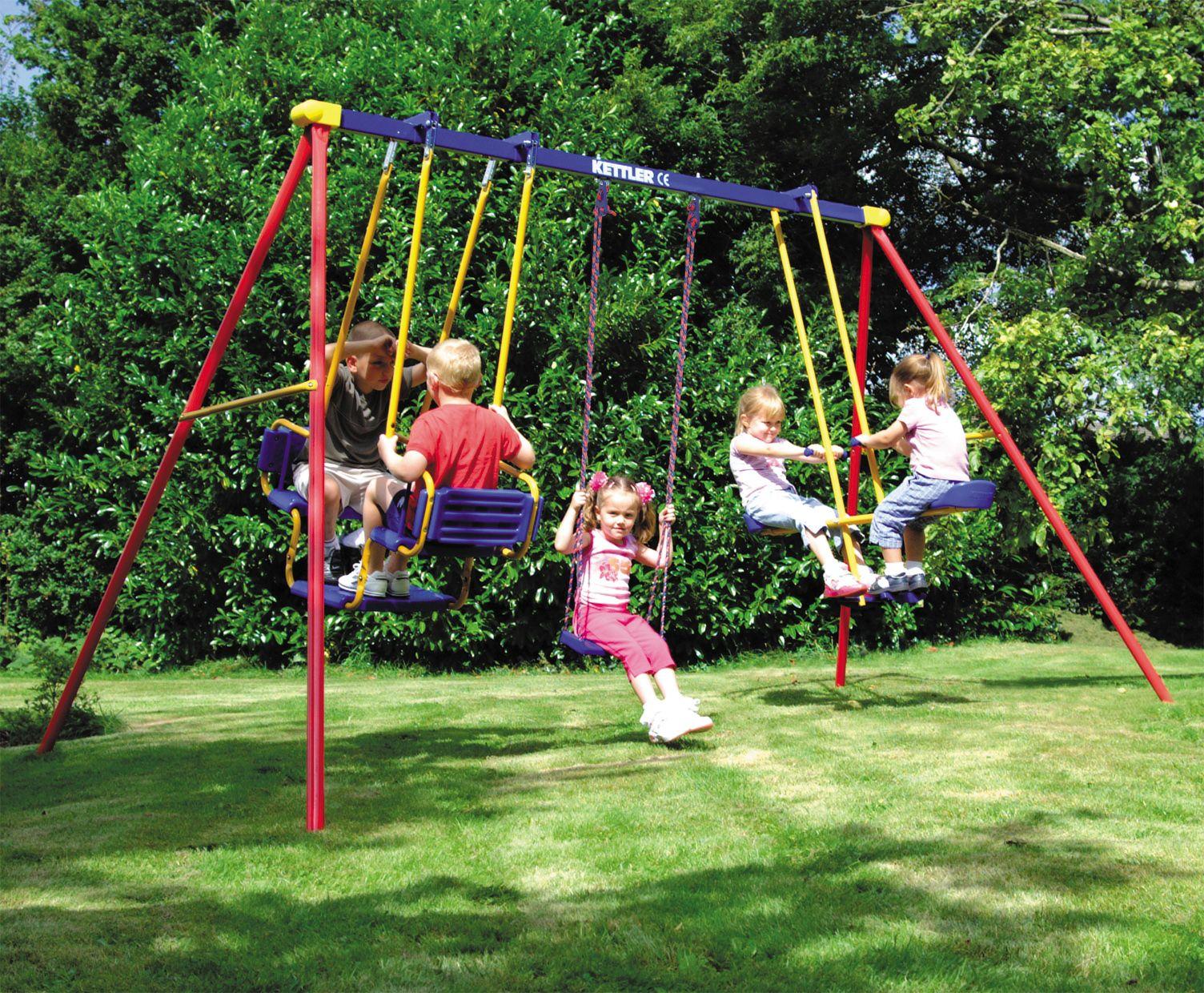 Swinging at the playground