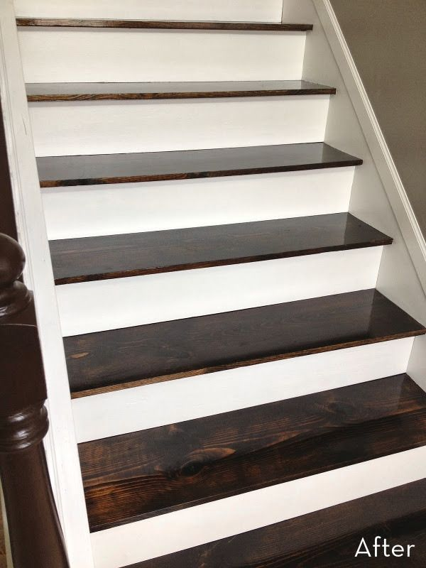 Before And After A 60 Carpet To Hardwood Stair Makeover