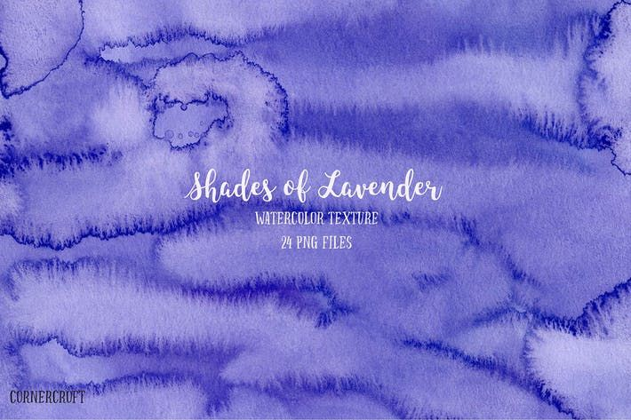 Watercolor Texture Shades Of Lavender By Cornercroft On