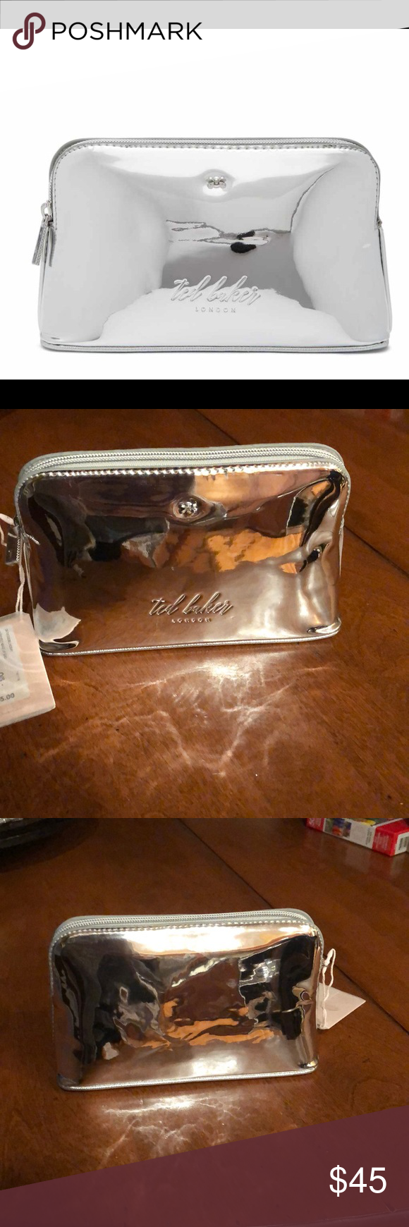 4457dfea0 Ted Baker Lindsay mirror cosmetic bag Ted Baker Lindsay mirrored cosmetic  bag. This cosmetic bag